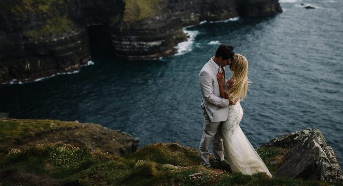 Jacob & Brittany // Intimate Cliffs of Moher Wedding