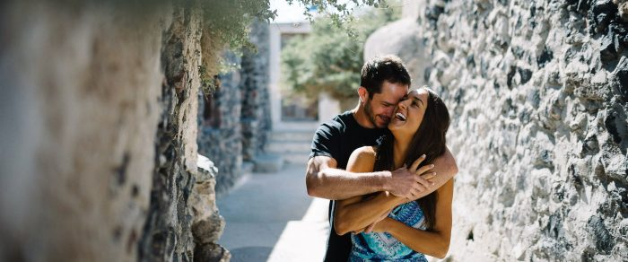 Mitch & Eva // Santorini Engagement Photographer