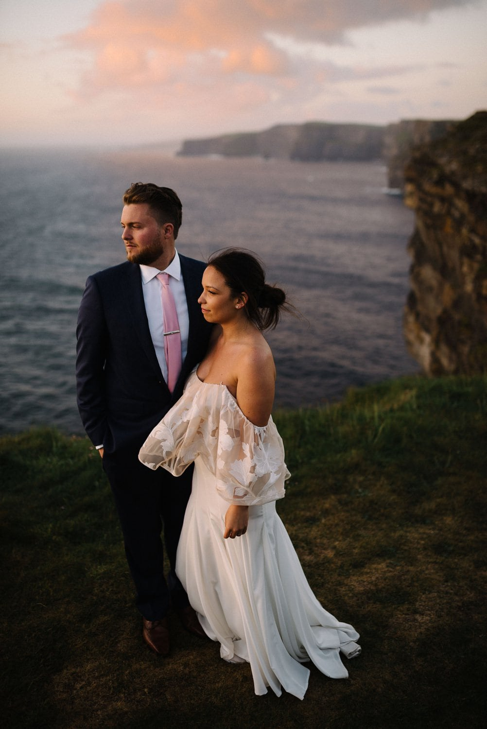 Elopement on the Cliffs of Moher Ireland wedding photographer