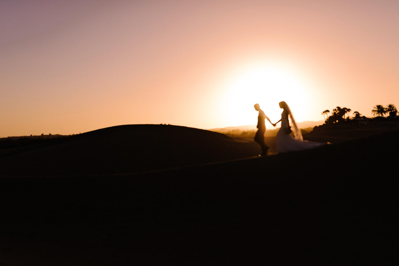 Gran Canaria wedding photographer desert portraits silhouette