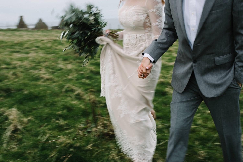 Irish Adventure elopement photographer Ireland Dunluce Castle