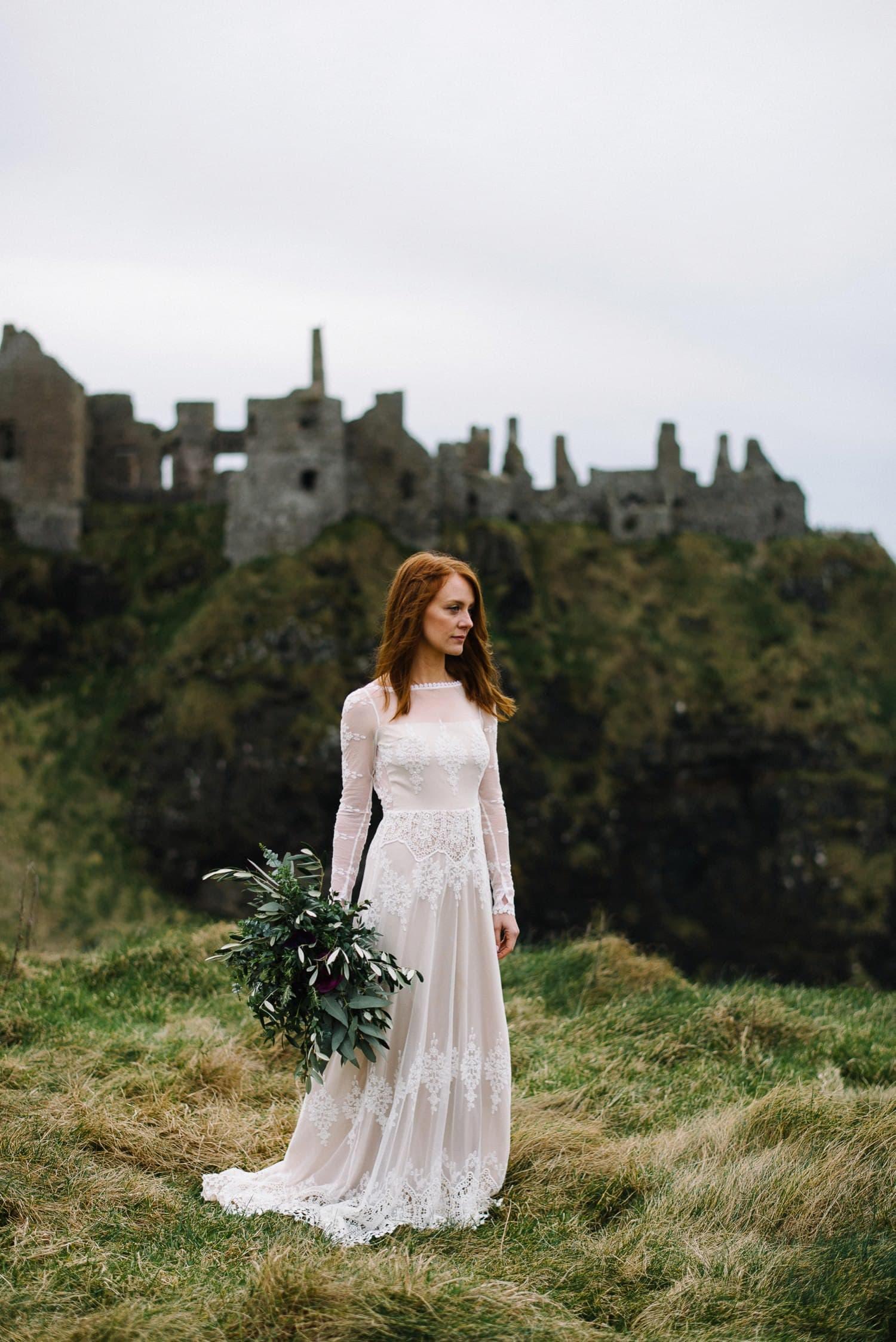 Dunluce Castle Elopement photographer Northern Ireland elopement photography