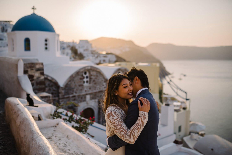 Santorini sunrise wedding photography