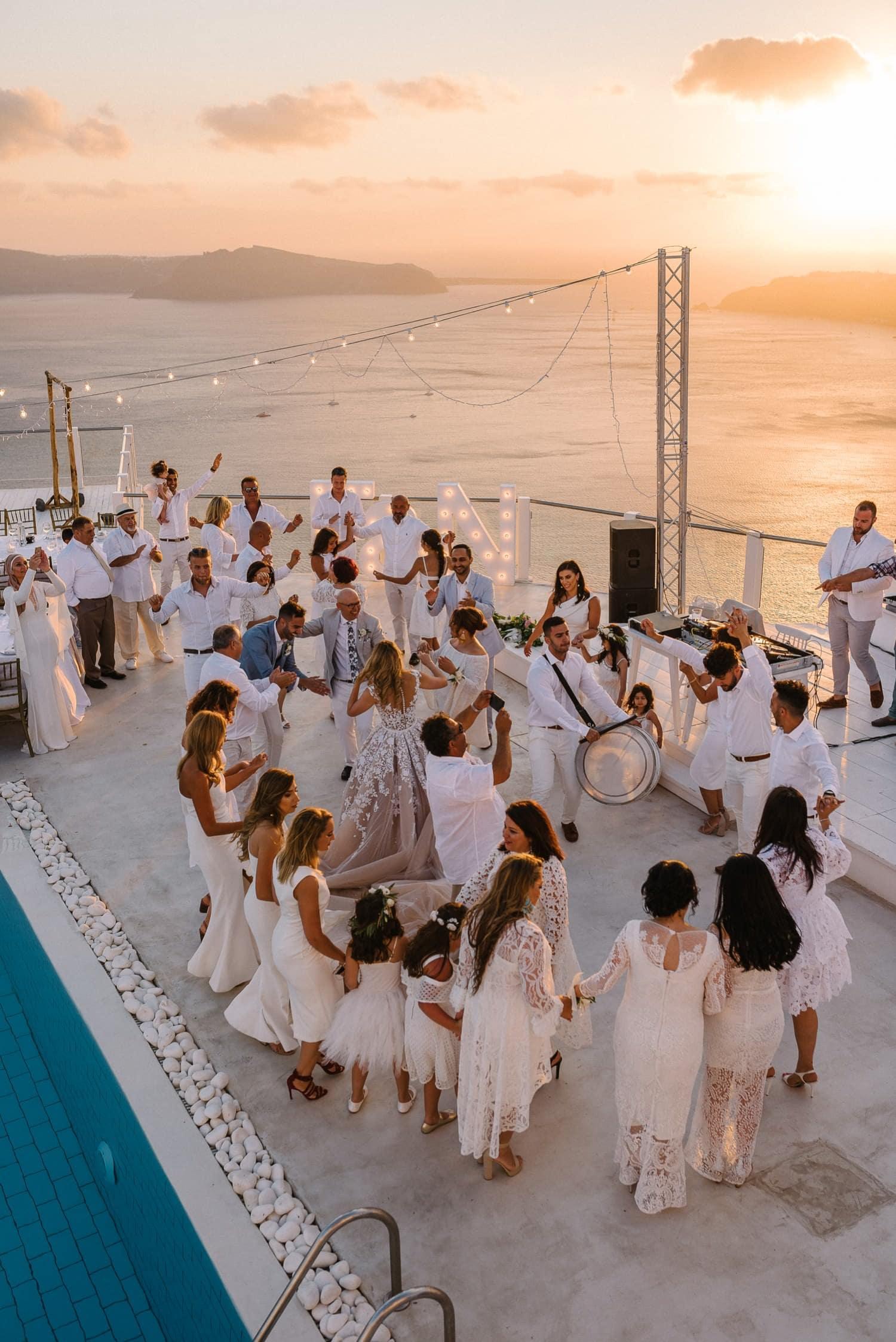 Santorini wedding at Rocabella Hotel
