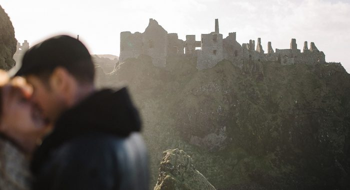 Dave & Morgan // Dunluce Castle Engagement Photographer