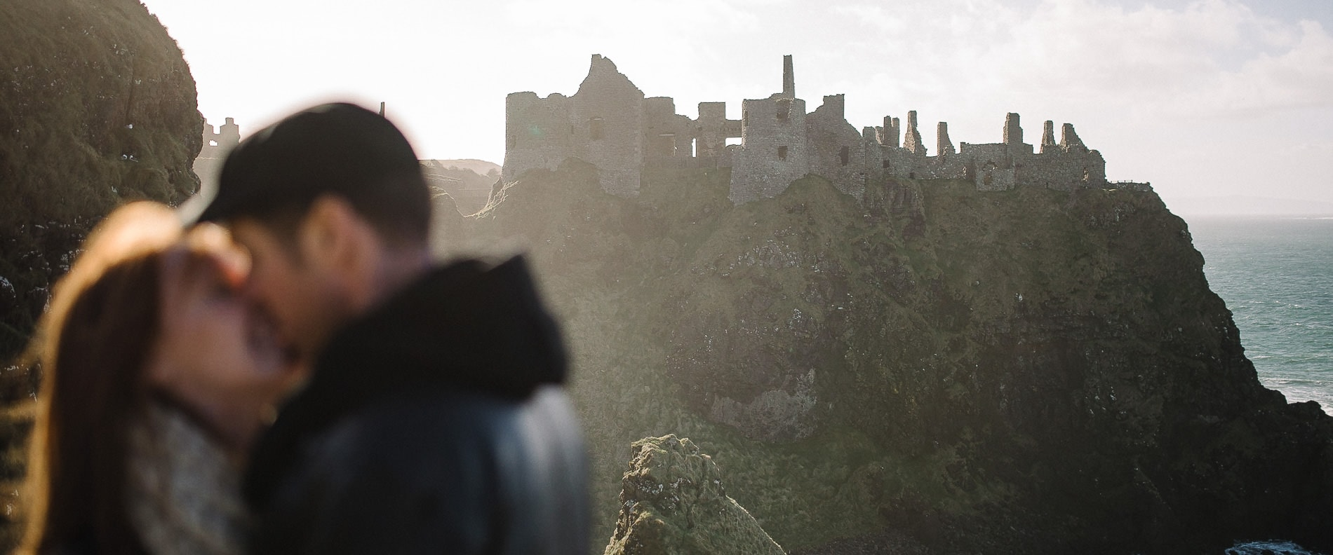 Dunluce Castle Engagement photographer wedding