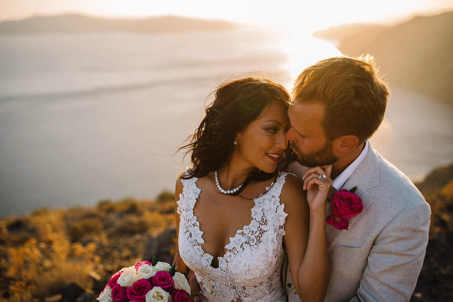 Initimate Santorini Destination wedding -1-4
