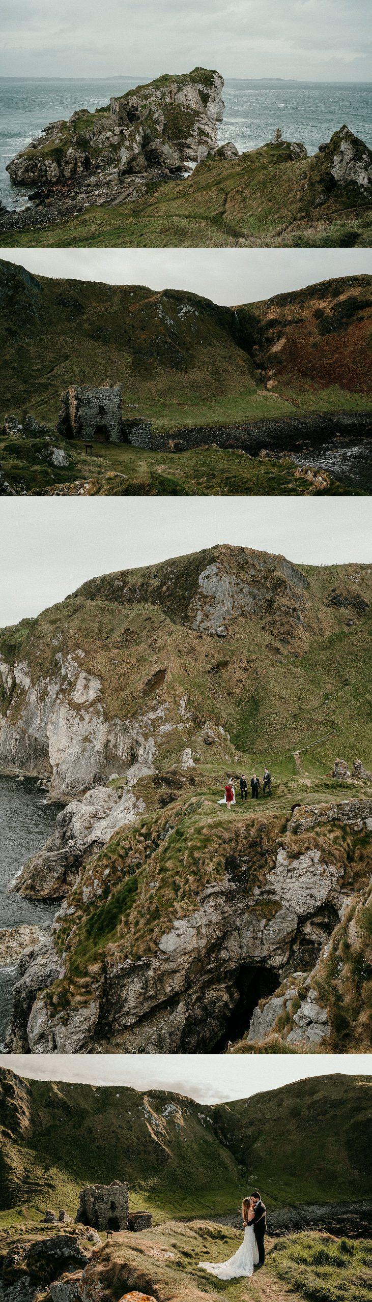 Elope in Ireland. Northern Ireland adventure elopements. Irish Elopement locations.