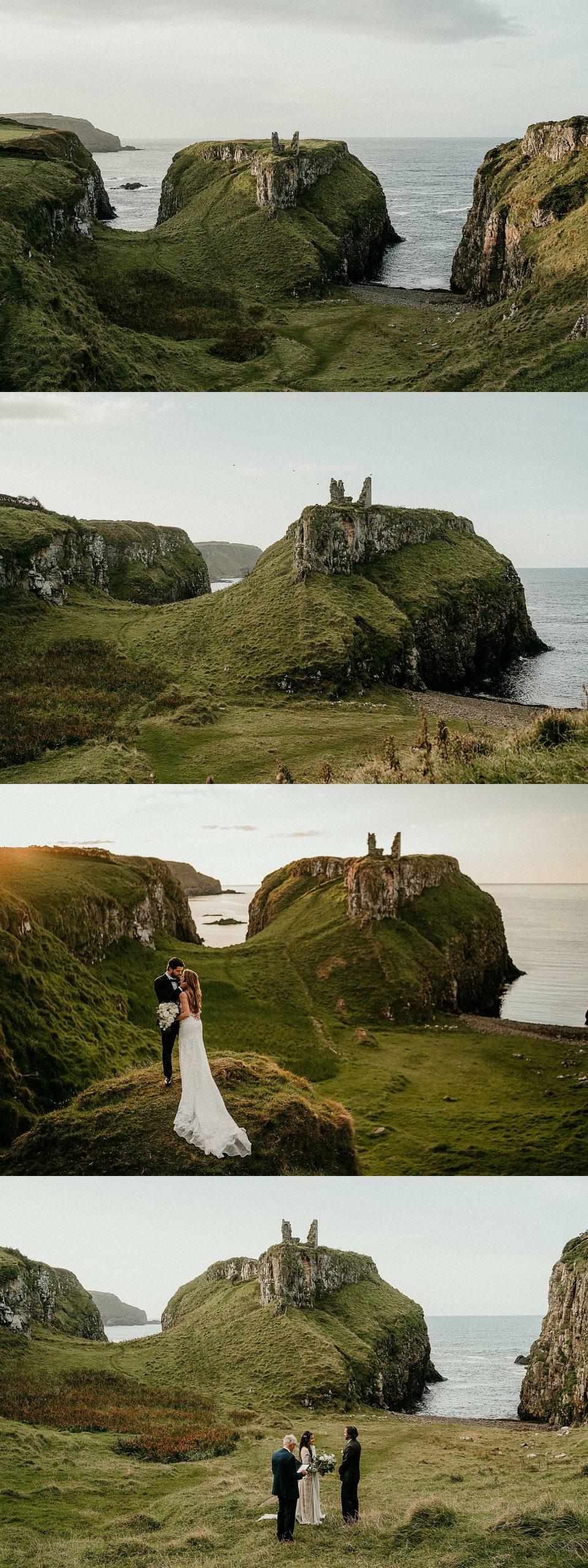 Northern Ireland elopements. Elope in Ireland. Dunseverick Castle.