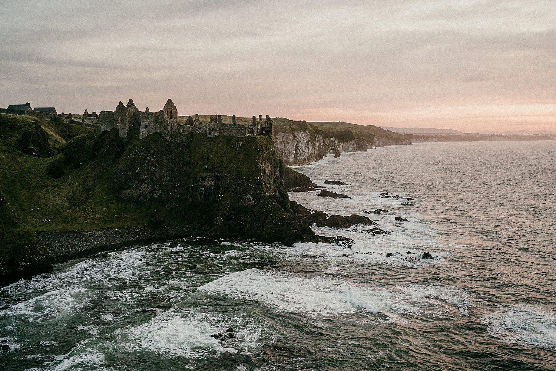 Dunluce Castle Northern Ireland Vow Renewal Irish elopements Causeway Coast