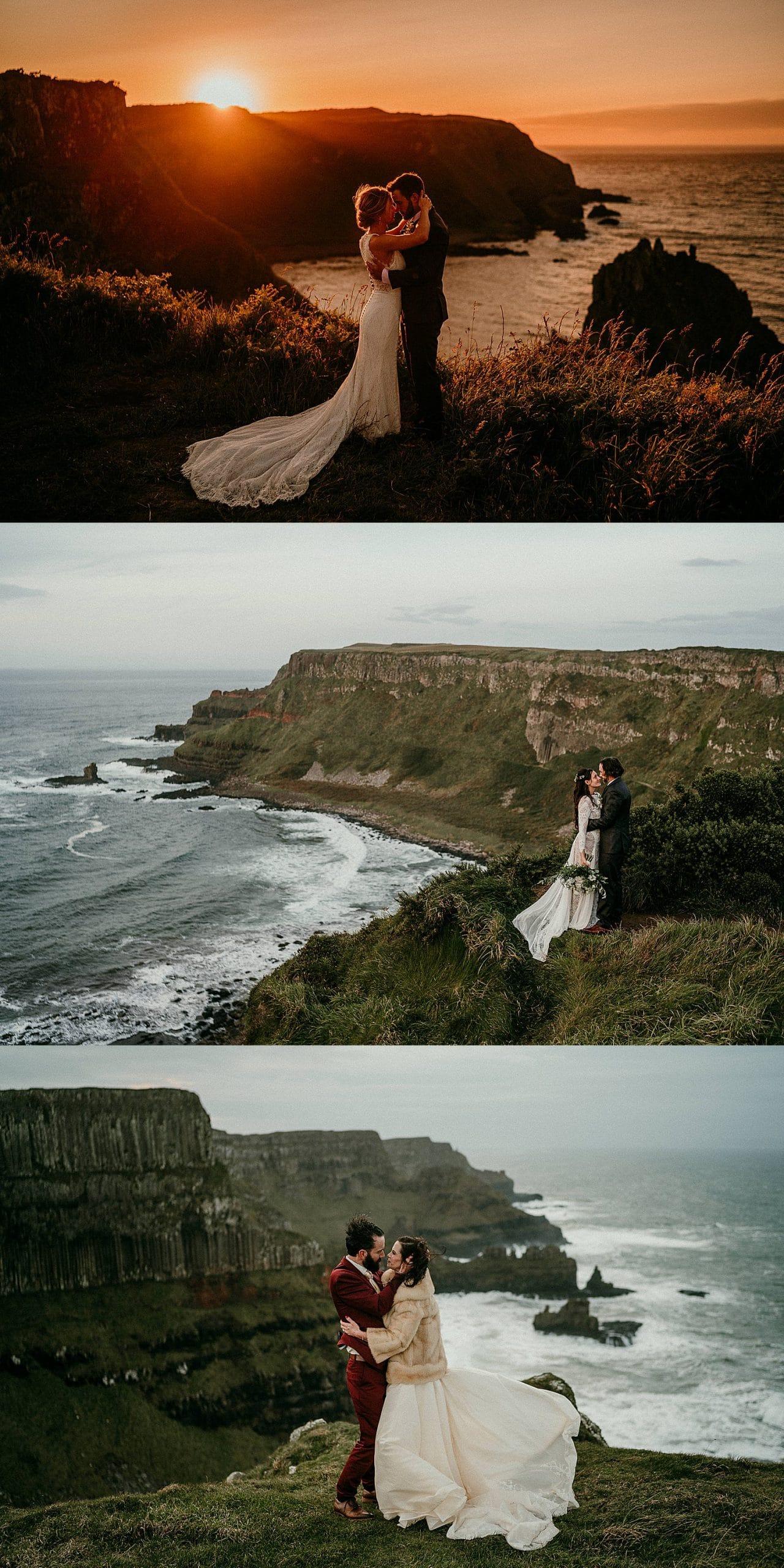 Elope in Ireland, Irish elopements, Giants Causeway Elopements, Northern ireland elopement, adventure elopements in europe