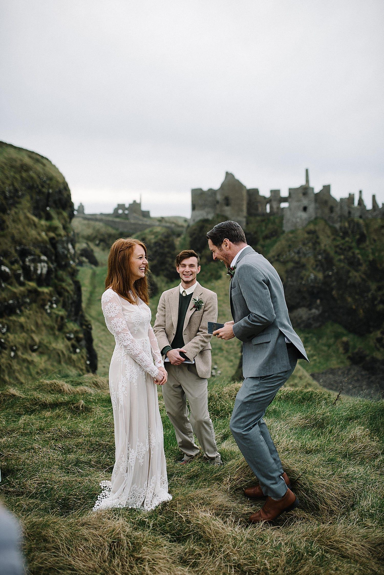 Dunluce Castle elopement Irish elopement Ireland adventure elopements