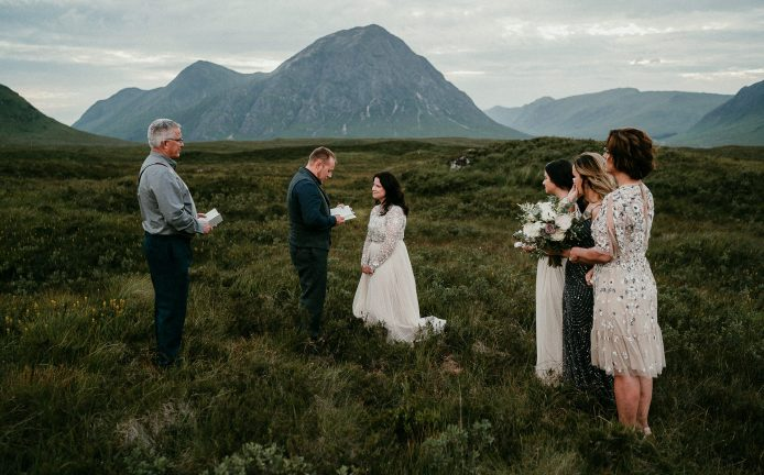 Glen Coe elopement in Scotland