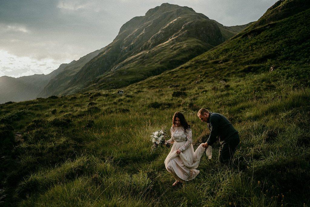 Scotland elopements. Adventure elopement in the Glencoe Mountains. Elopement Glen Coe