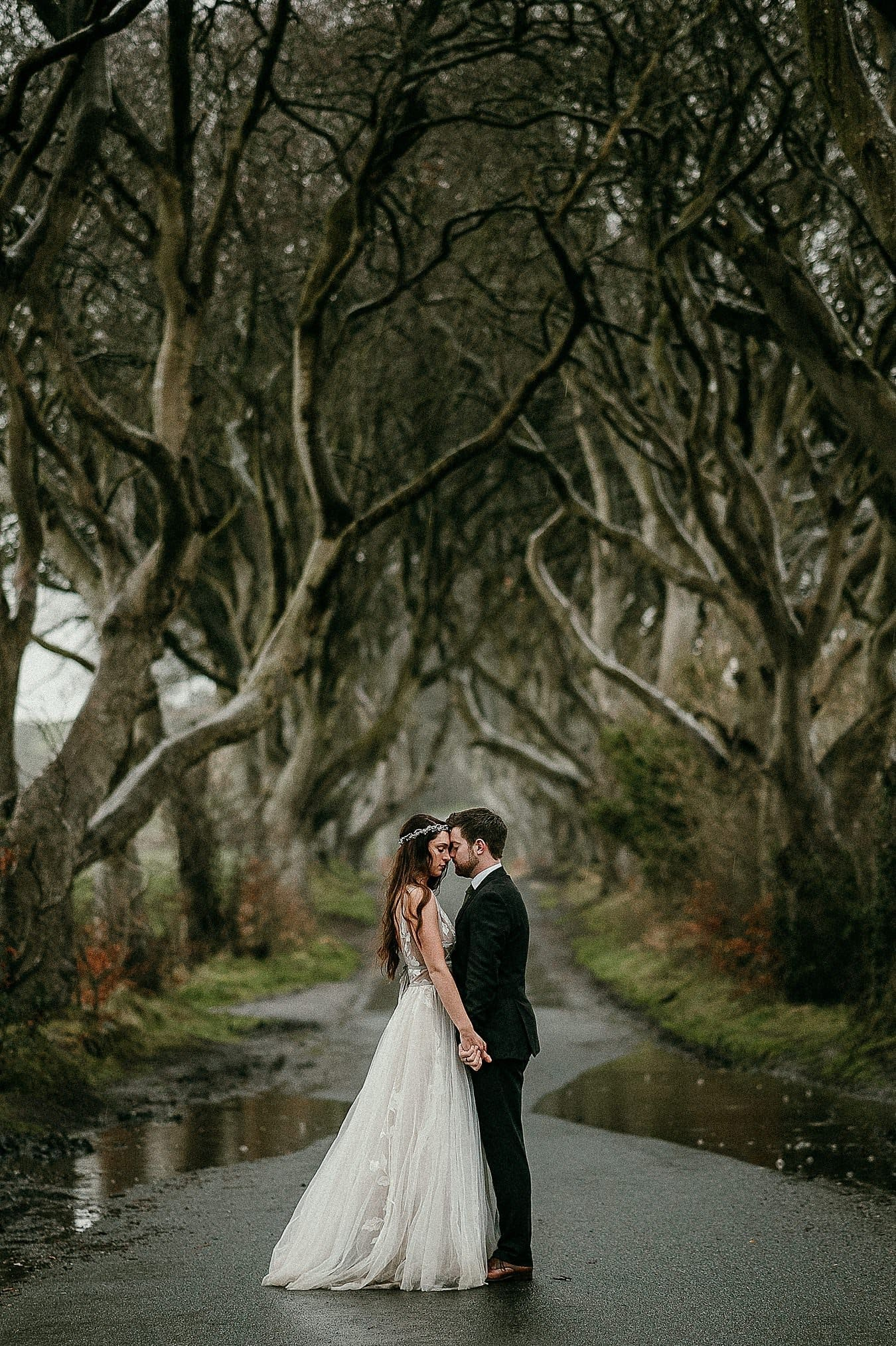 The Dark Hedges Northern Ireland elopement photographer Irish elopements