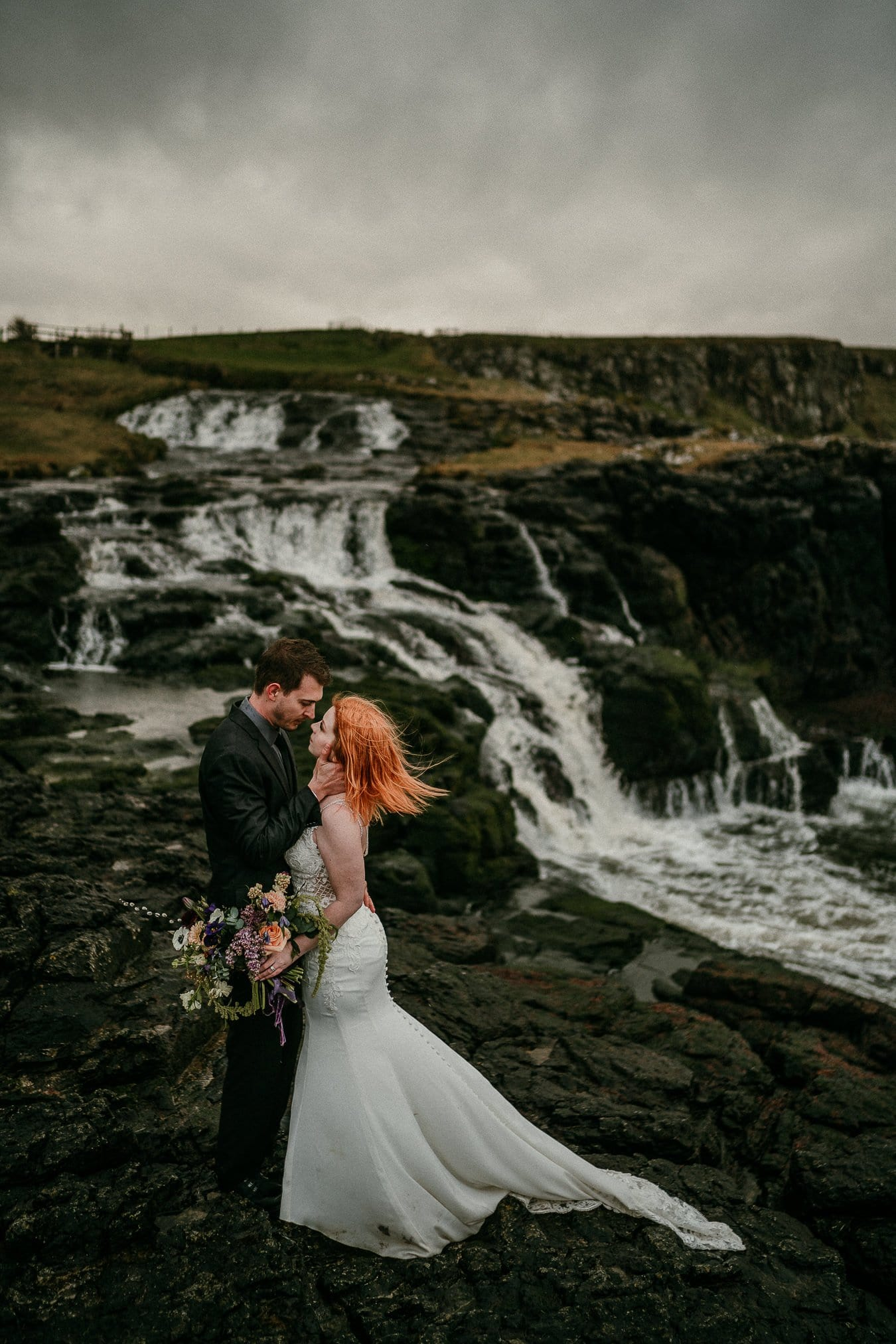 Dunseverick Falls Northern Ireland elopement photographer Irish elopements -100001-3