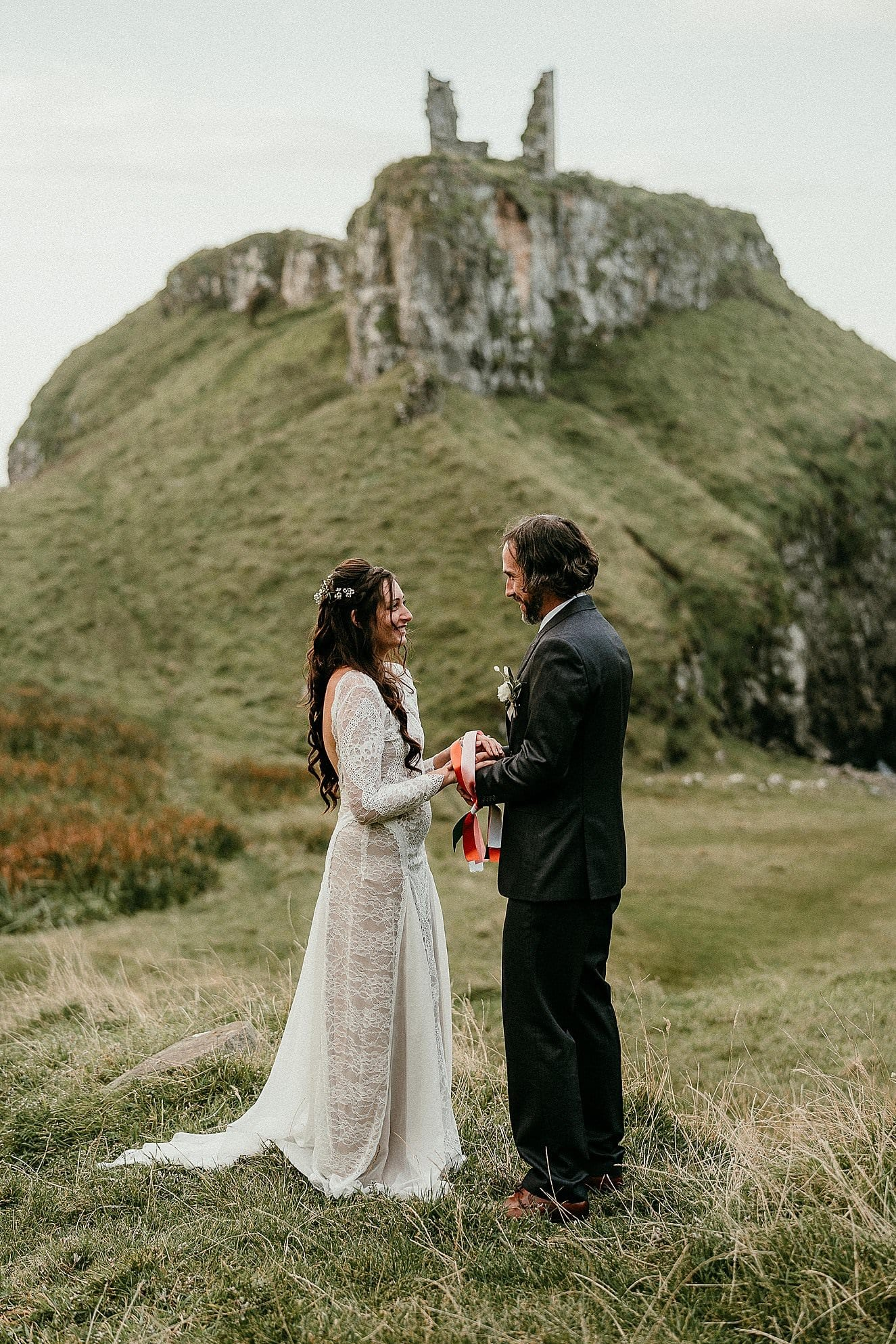 hand fasting is a great elopement ceremony ideas