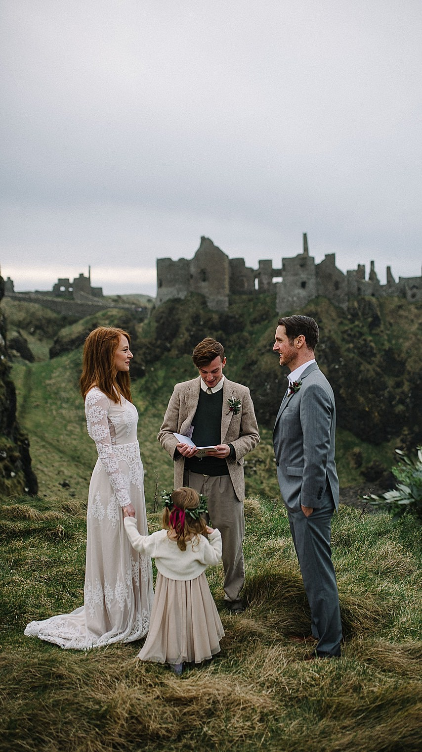 ELOPEMENTS IN IRELAND IRISH ELOPEMENT PHOTOGRAPHY. DUNLUCE CASTLE ELOPEMENT.