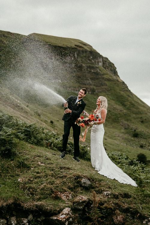 bride & groom elopement in europe